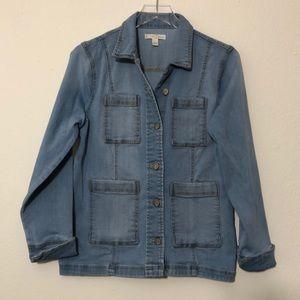 9730b8d8b843c Cato EST. 1946 Denim Stretch Coat Jean Jacket L